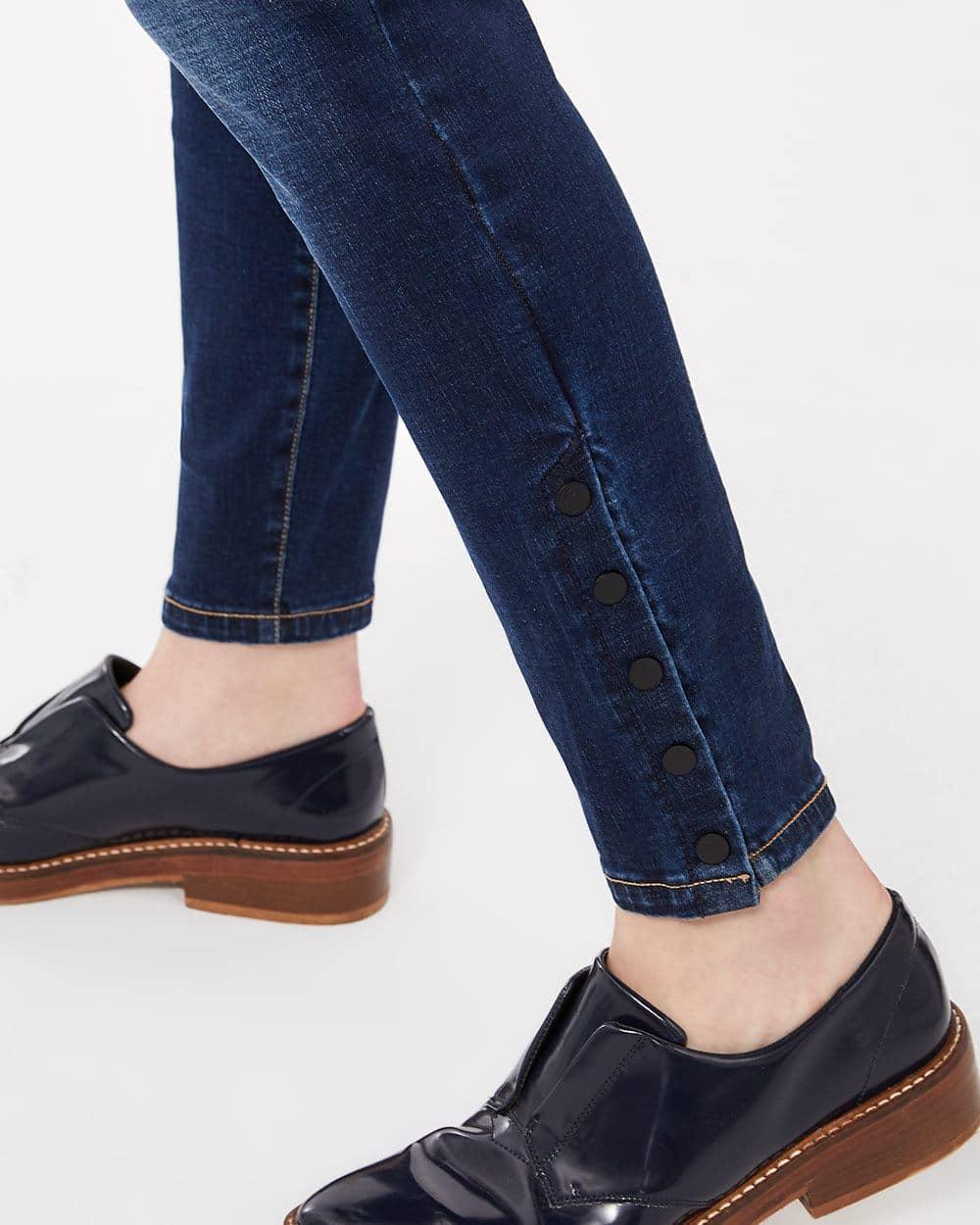 Le Jeans Sculptant bleu-noir skinny