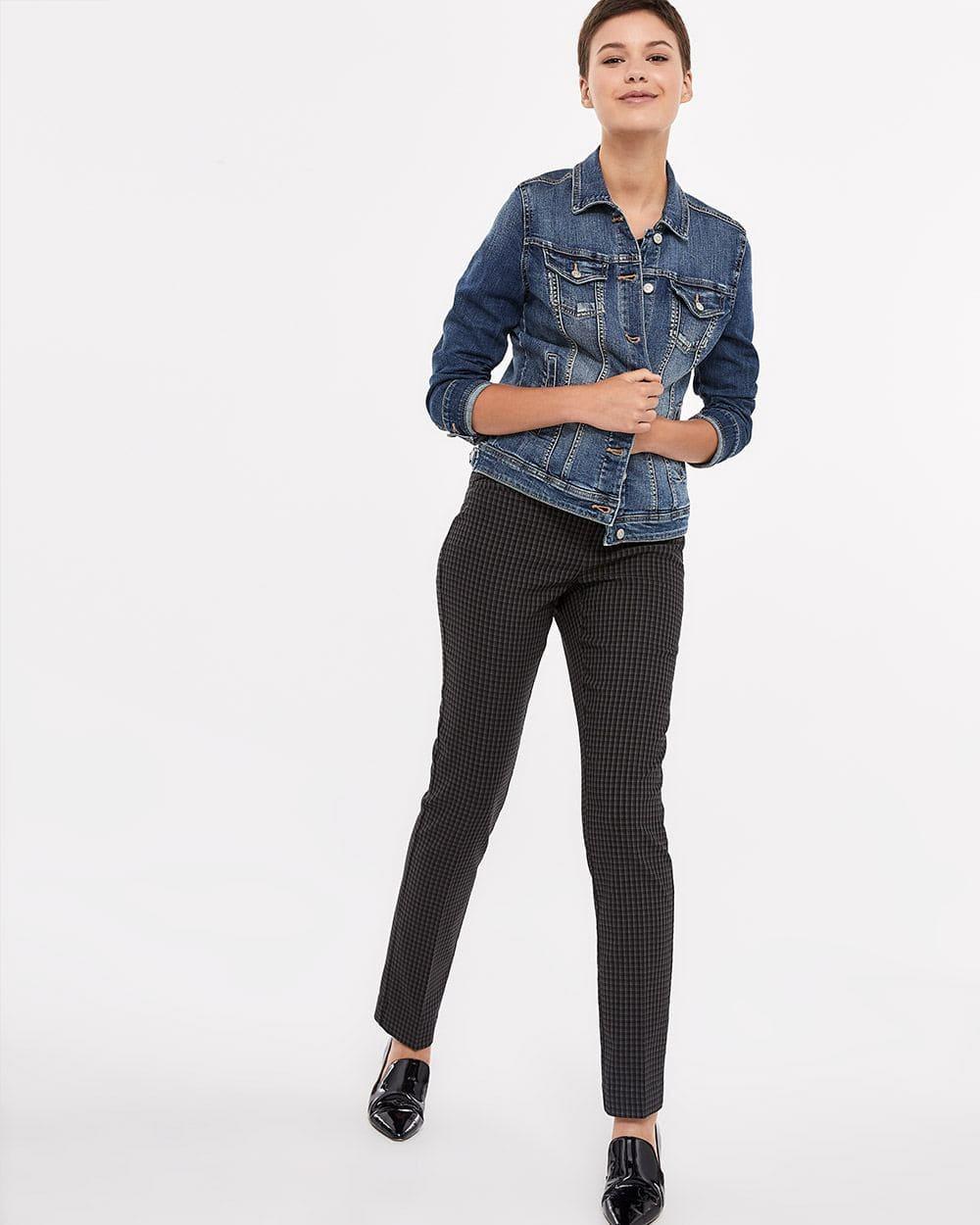 Pantalon à jambe droite et motif L'Iconique