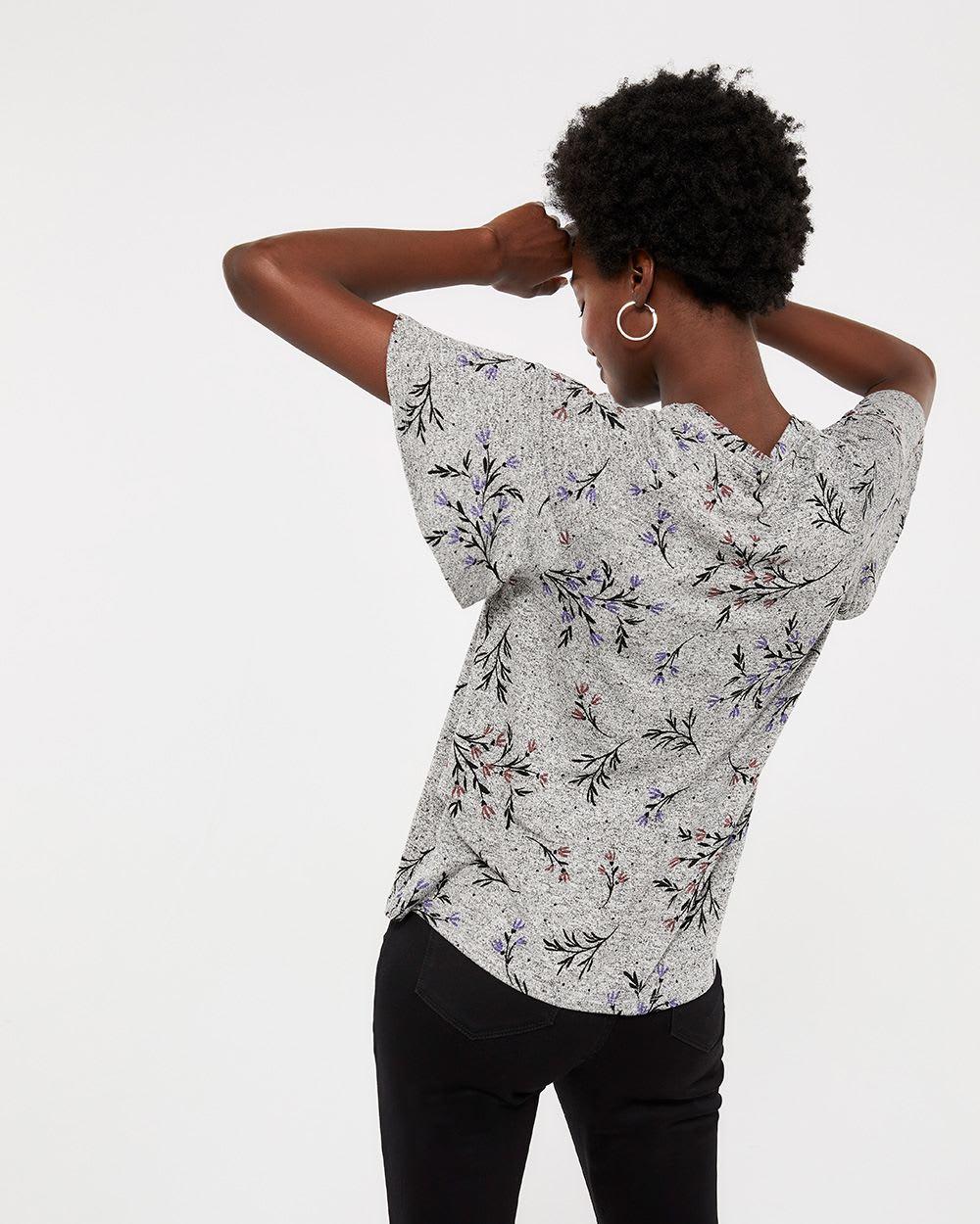 Flutter Sleeve Printed Top