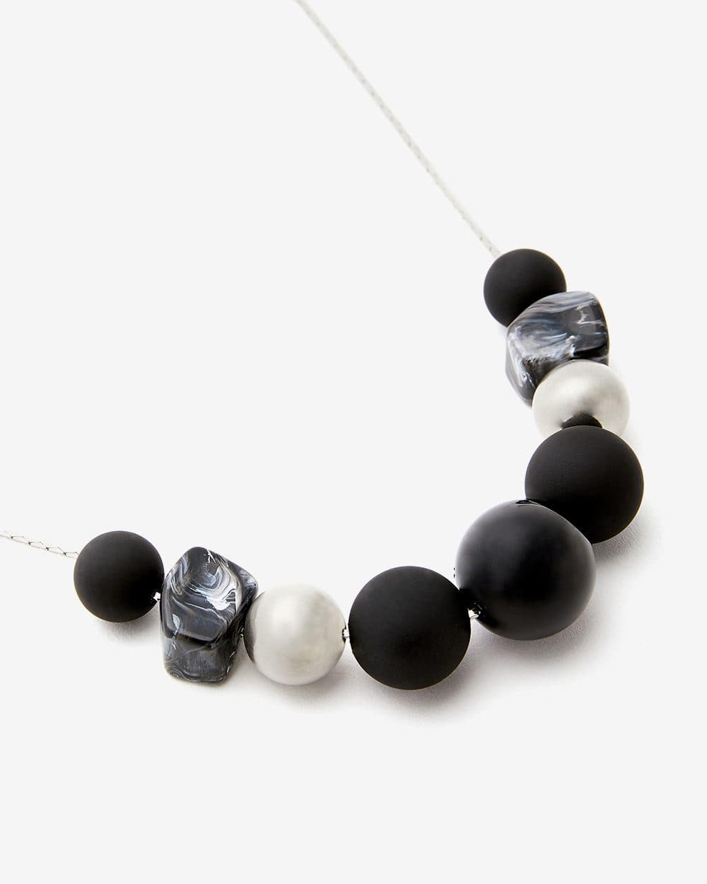 Multi-Bead Long Necklace