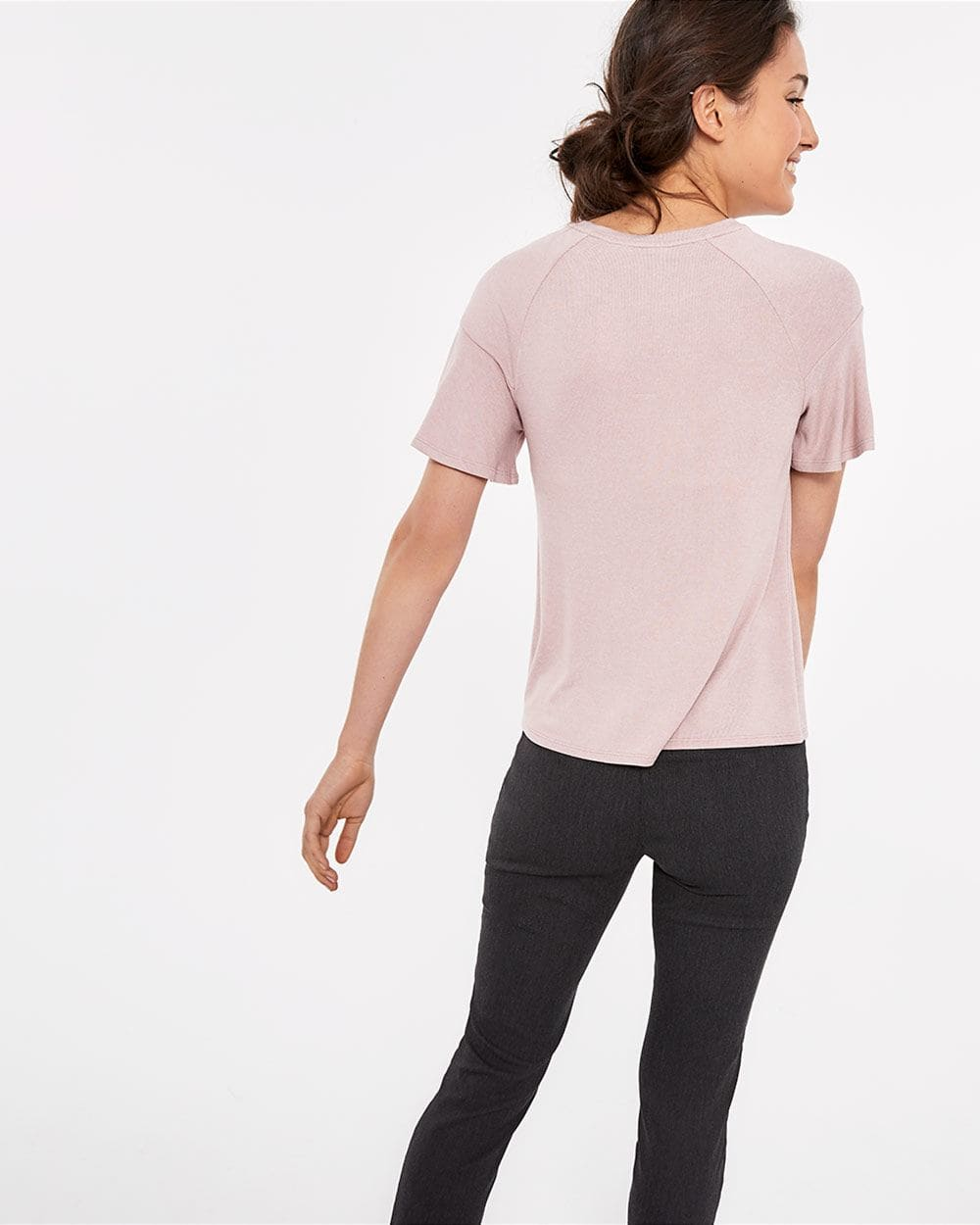 Short Flutter Sleeve Top