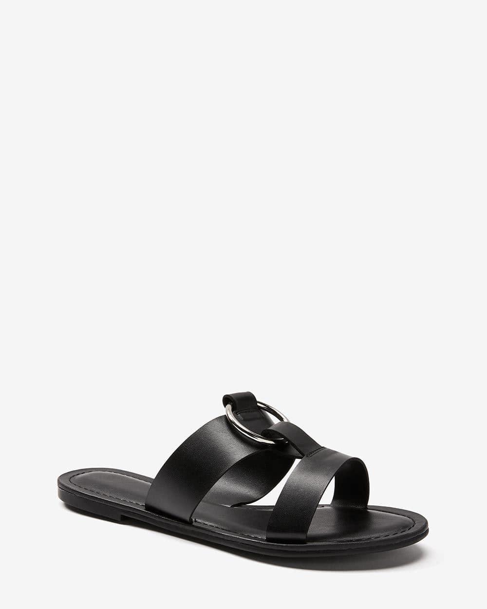 Slip Sandal with Metal Ring