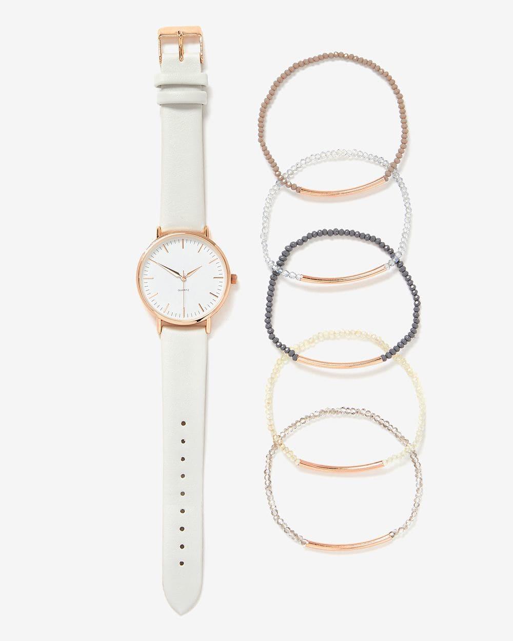 Set of Wristwatch and Bracelets