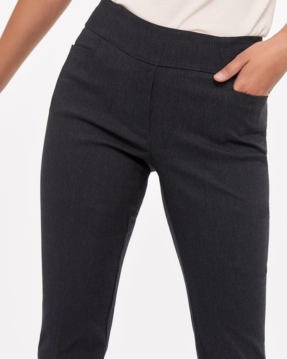 The Iconic Boot Leg Grey Melange Pants