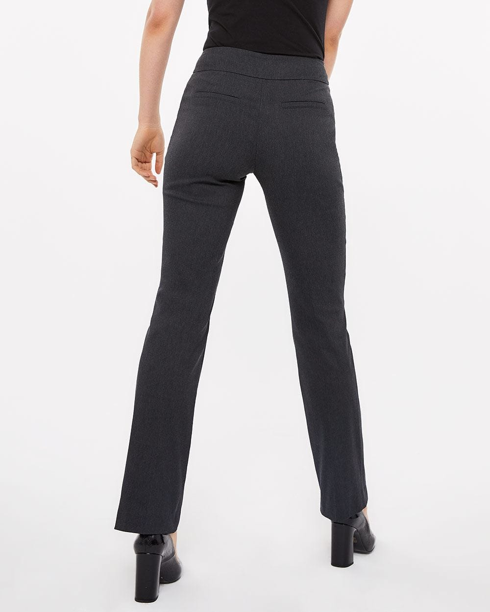 The Tall Iconic Boot Leg Grey Melange Pants