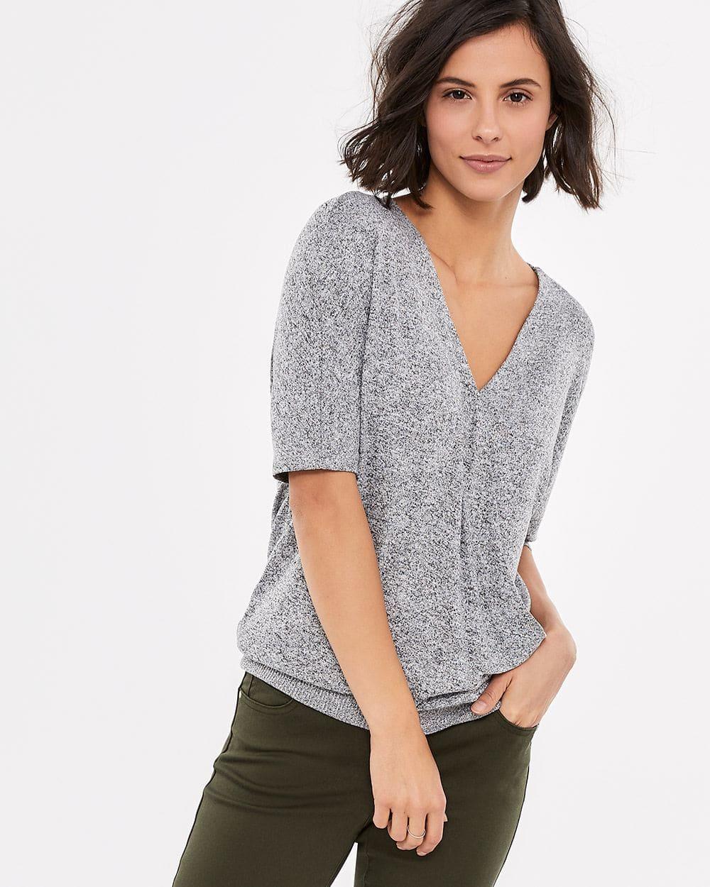 Dolman Short Sleeve Solid Top