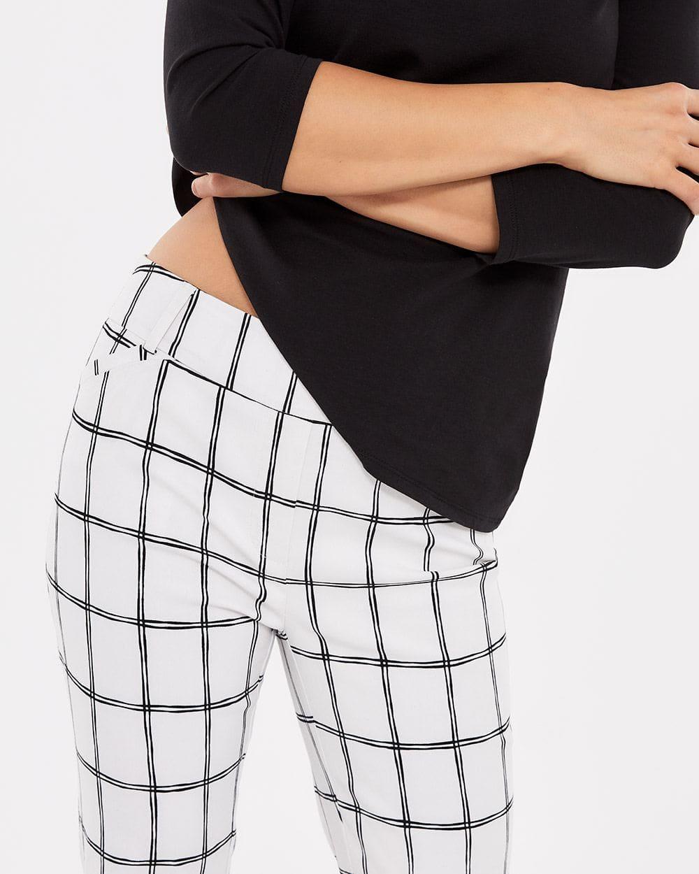 Pantalon à la cheville à carreaux skinny L'Iconique Petite