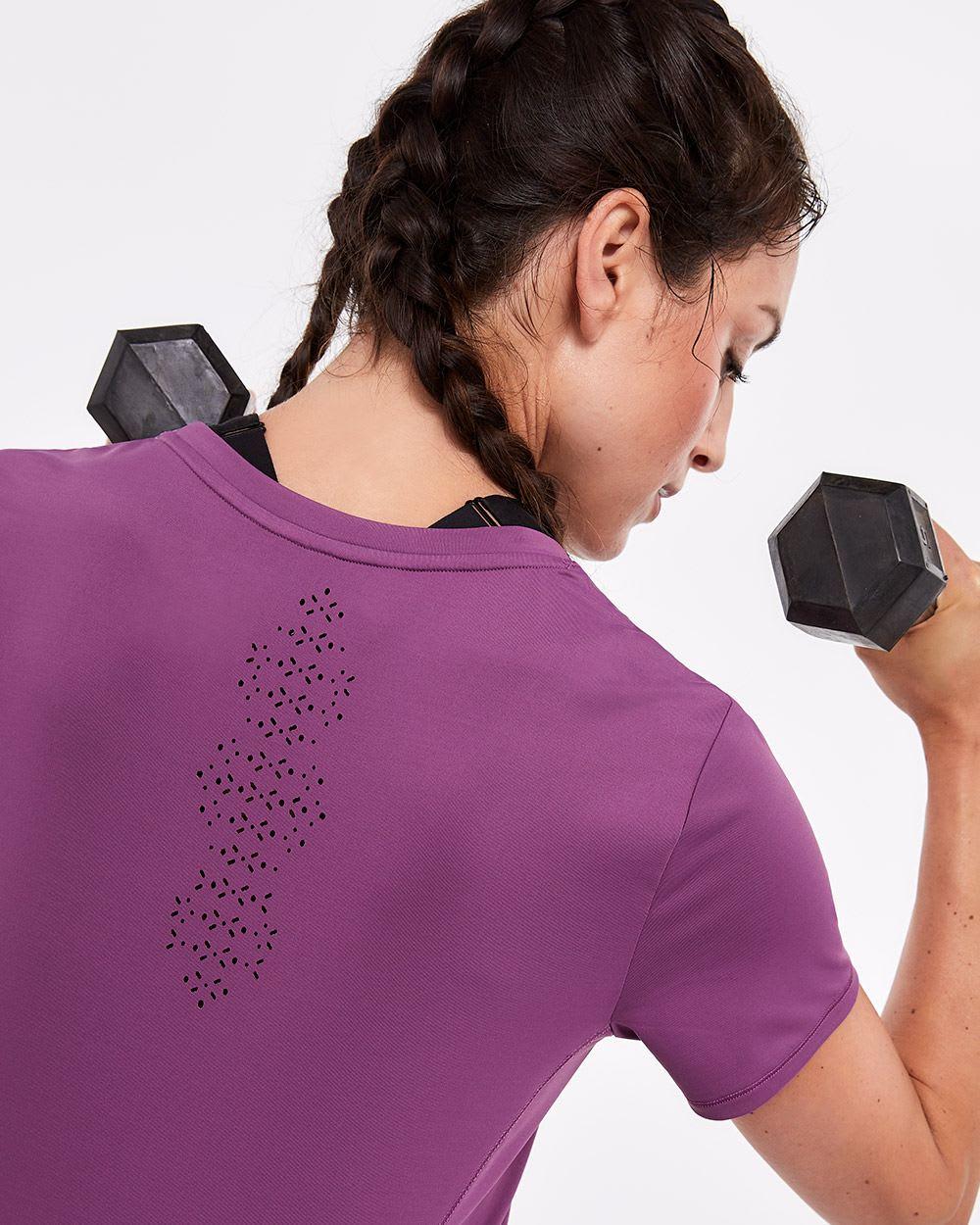 T-shirt athlétique perforé Hyba