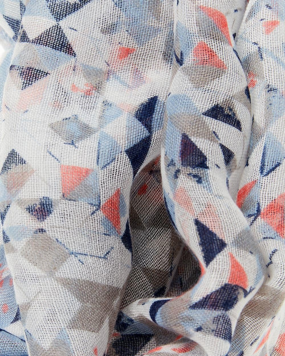 Foulard circulaire à motif géométrique