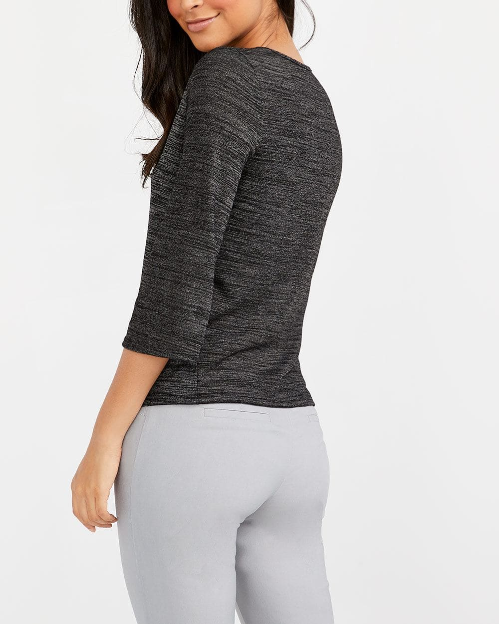 Knot Detail Marled Top