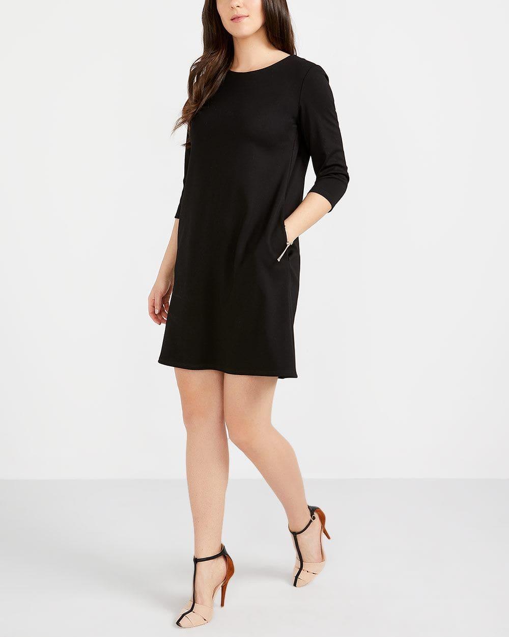 ¾ Sleeve A-Line Dress