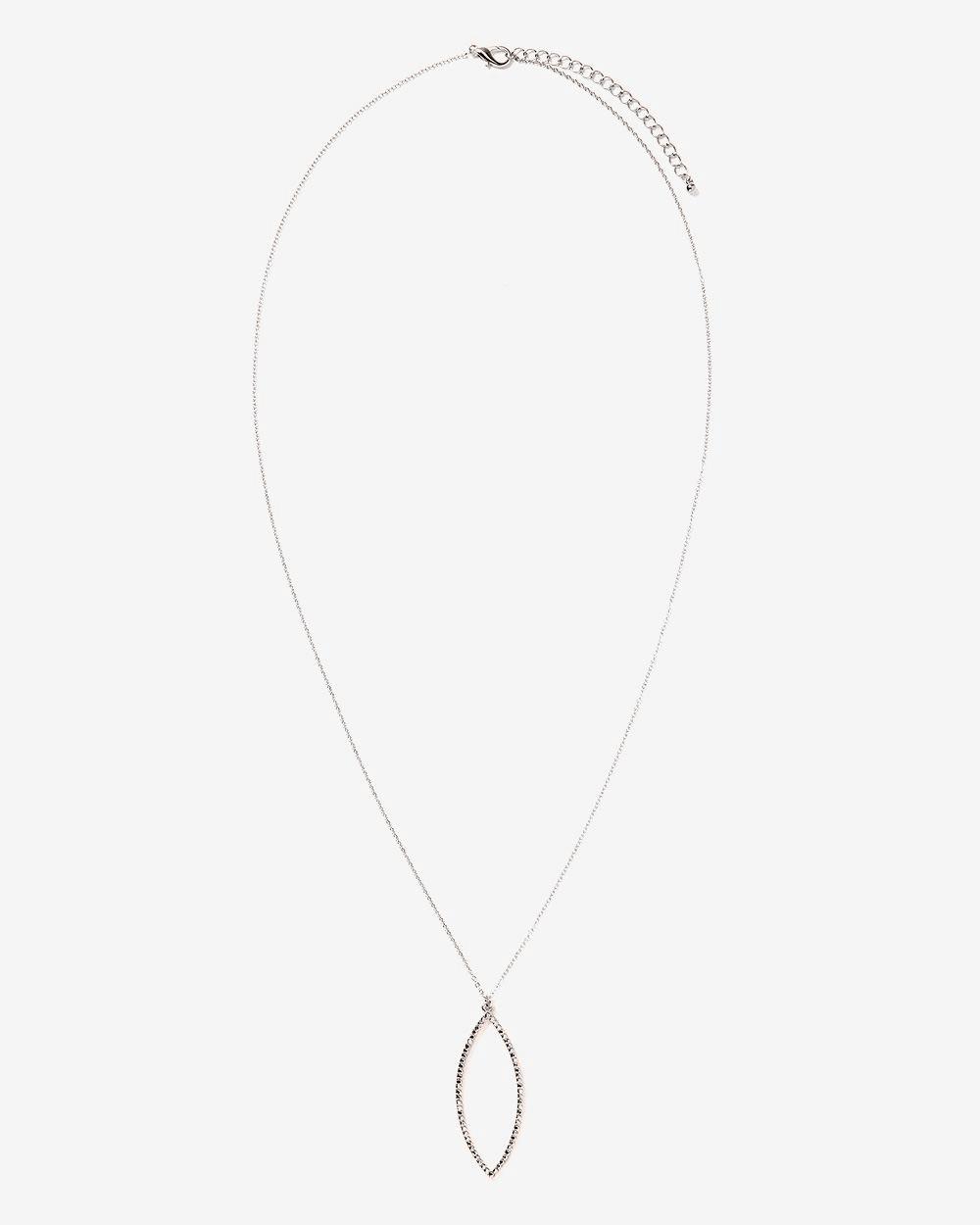 Collier long à pendentif à pierres