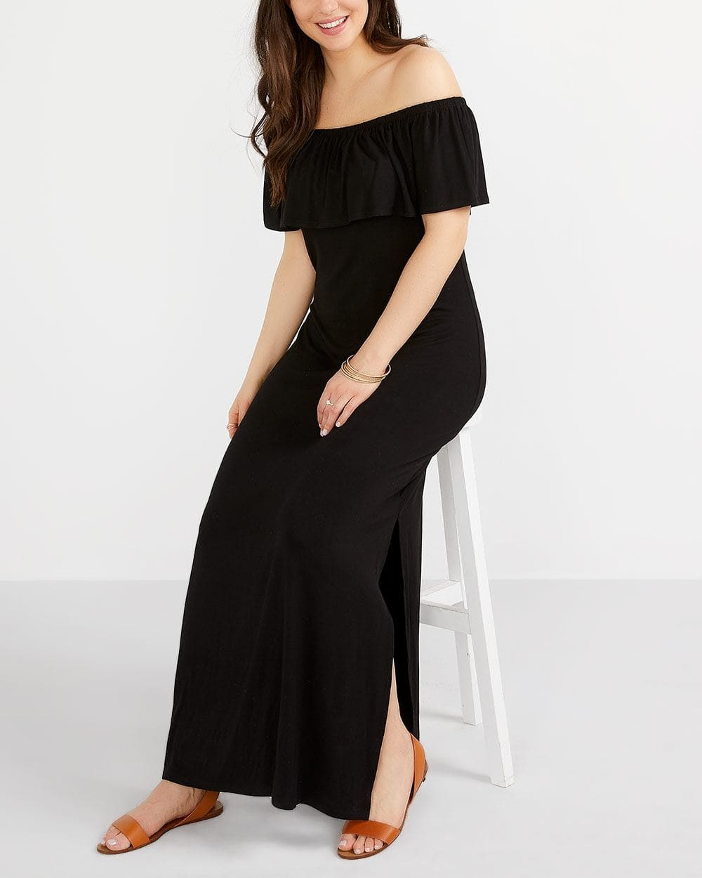 Off-The-Shoulder Maxi Dress