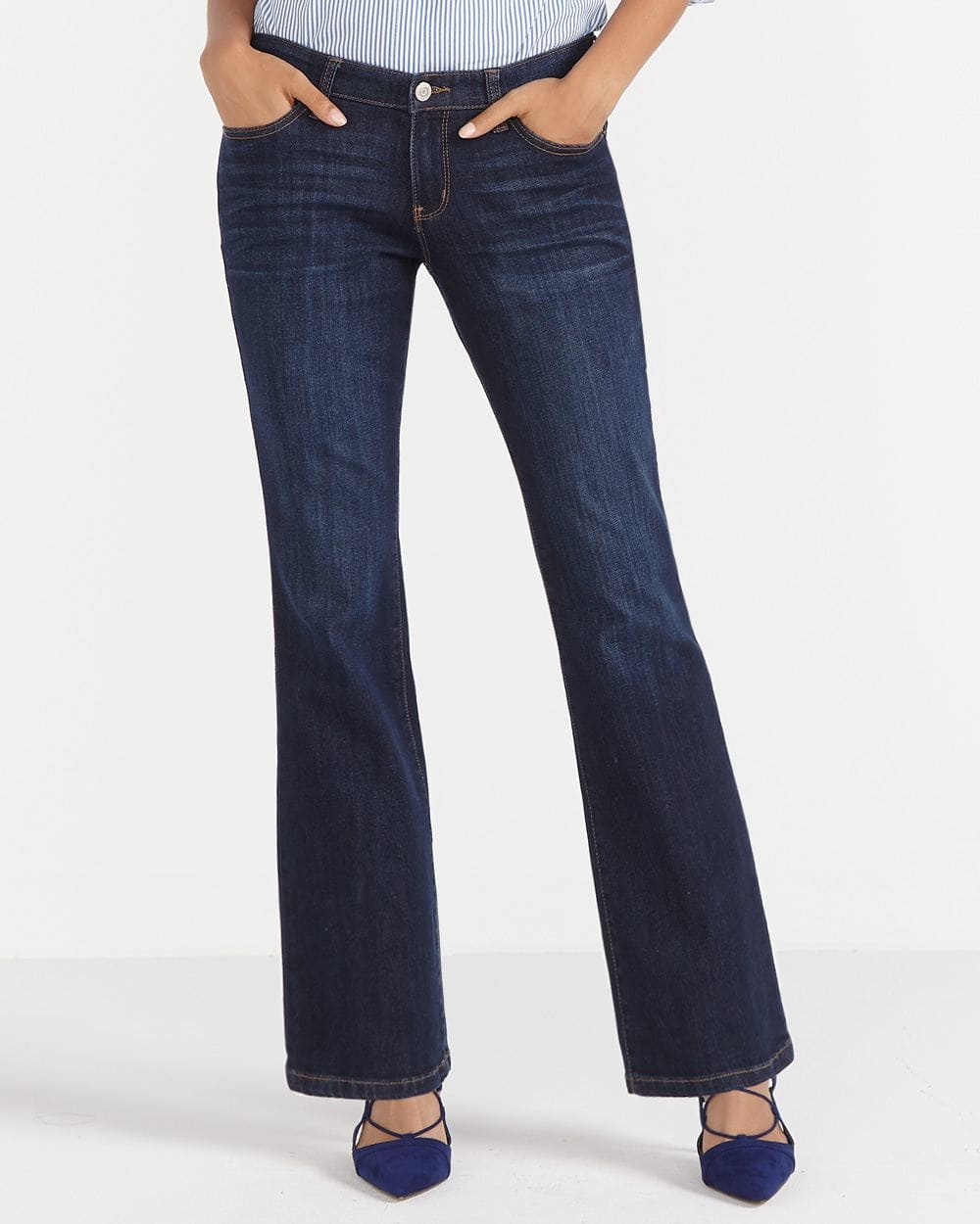 The Petite Insider Boot Cut Jeans