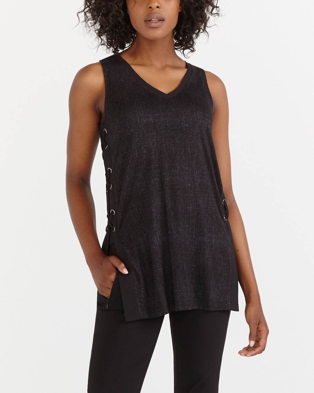 Tank Top With Lace Up Sides Women Reitmans