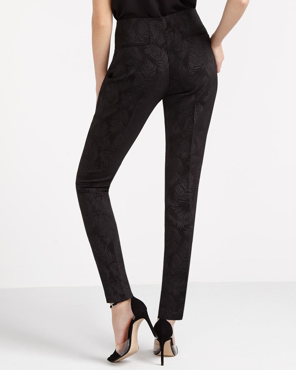 Willow & Thread Jacquard Cigarette Pants