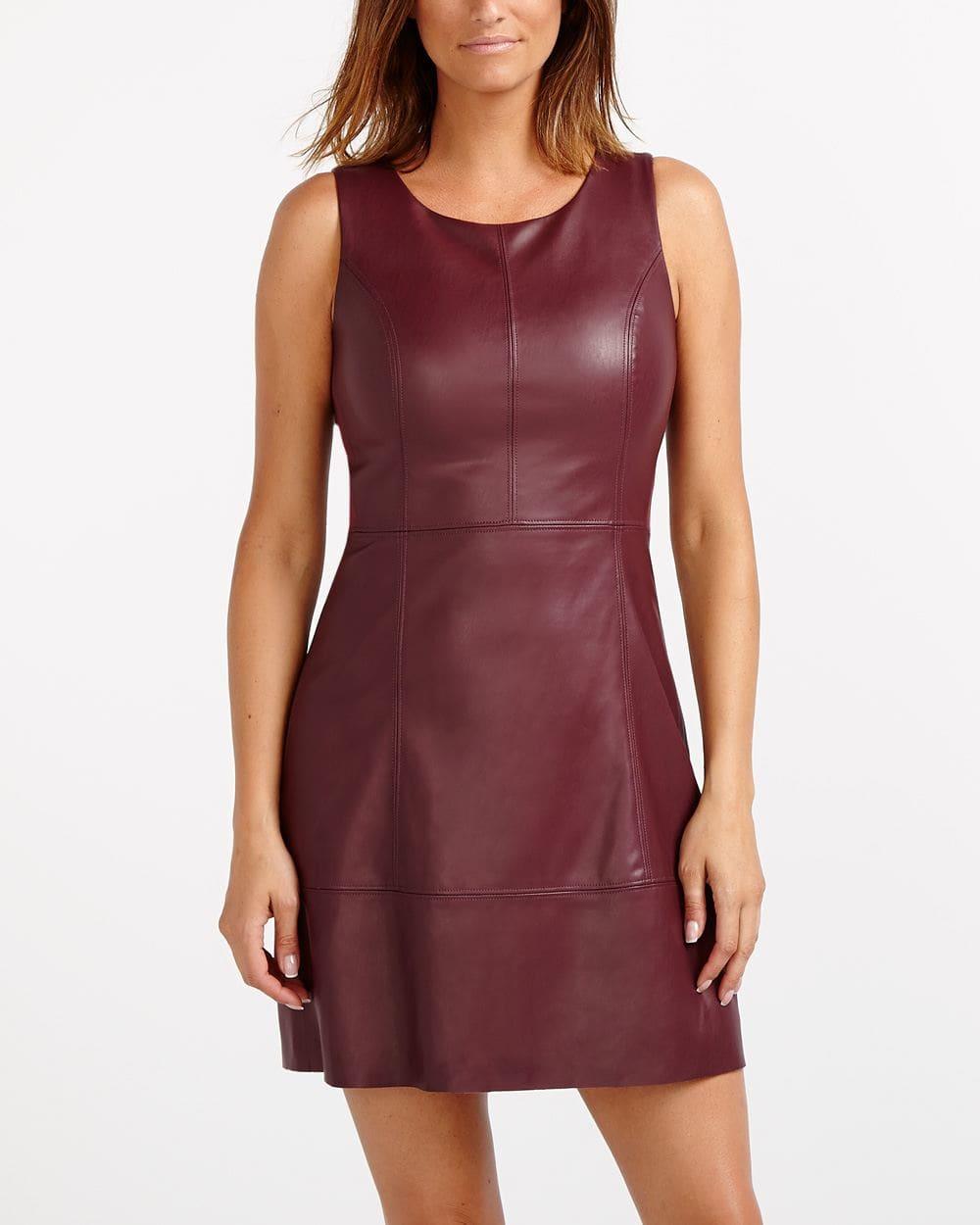 Faux Leather Scuba Dress