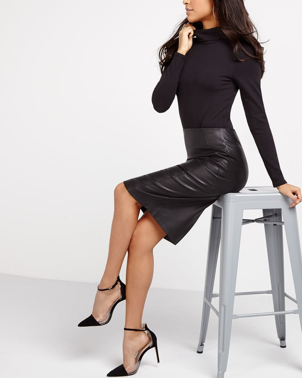 The Faux Leather Skirt By Meghan Markle Women Reitmans