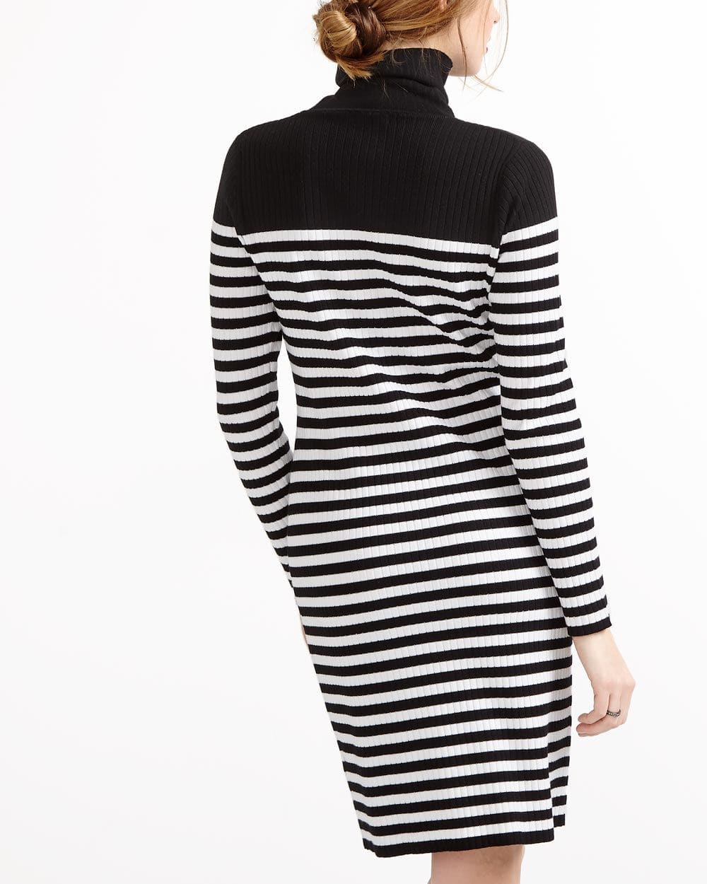Turtleneck Striped Dress