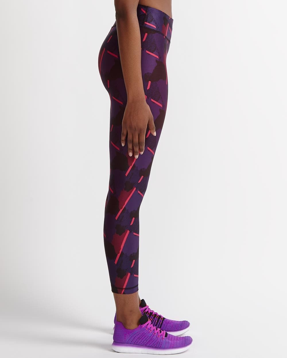 Hyba Printed Fast Track Cropped Legging