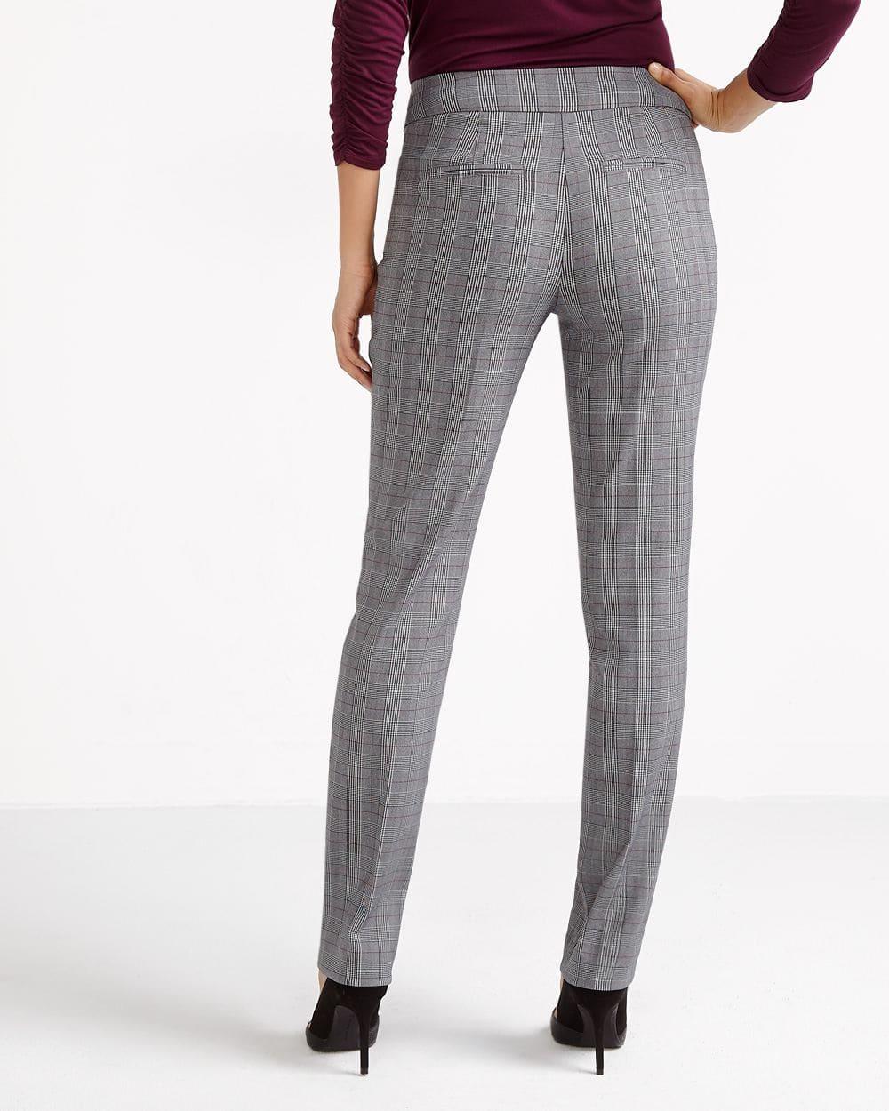 Pantalon à carreaux à jambe droite L'Iconique
