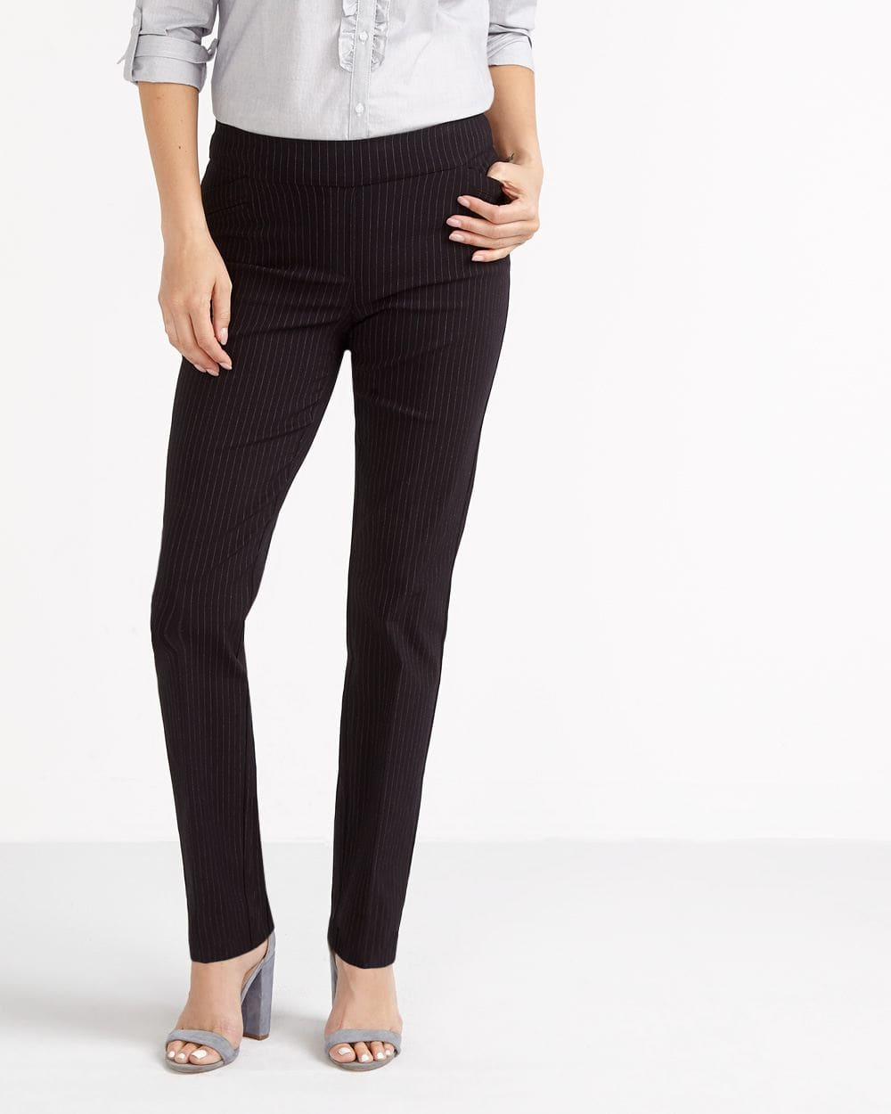 The Iconic Straight Leg Striped Pants