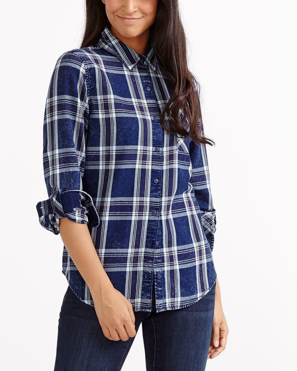 Plaid Jeans Shirt