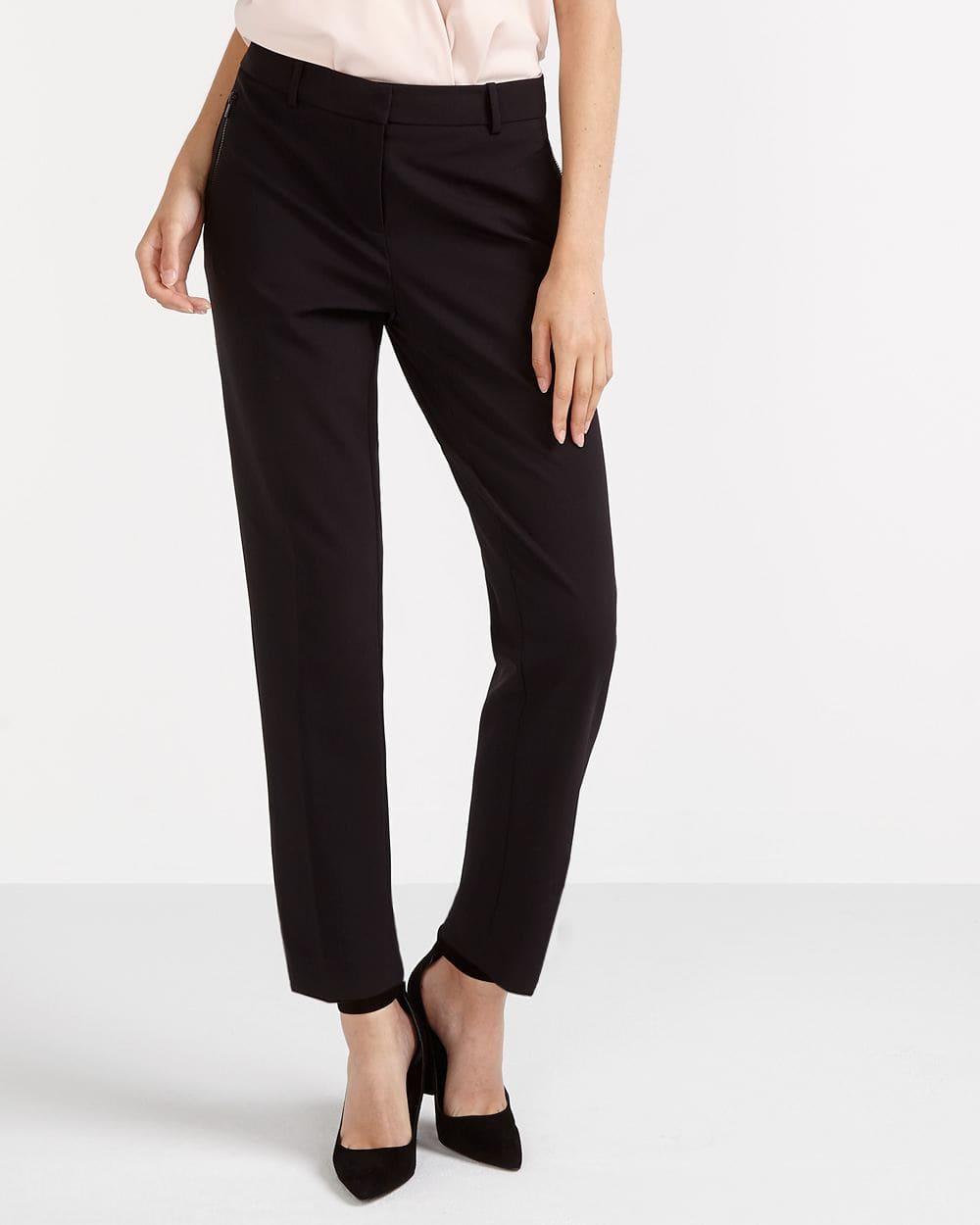 Pantalon uni à jambe étroite Willow & Thread