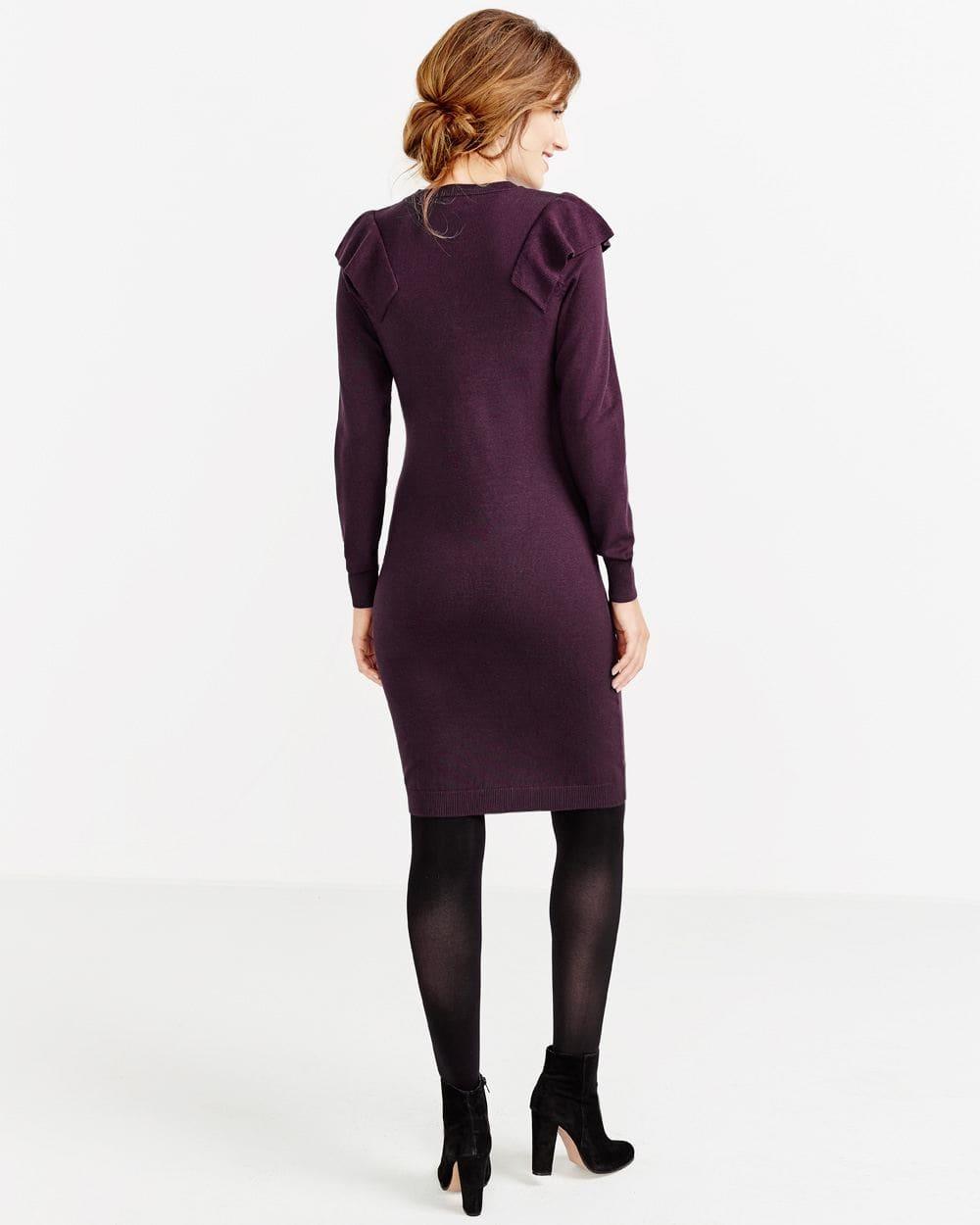 Long Sleeve Ruffle Bodycon Dress