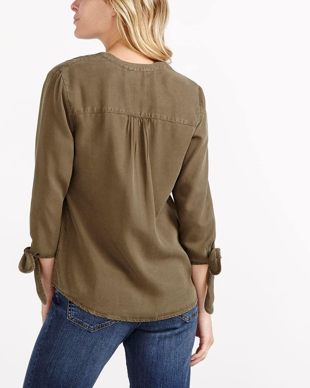 Knotted Sleeve Shirt