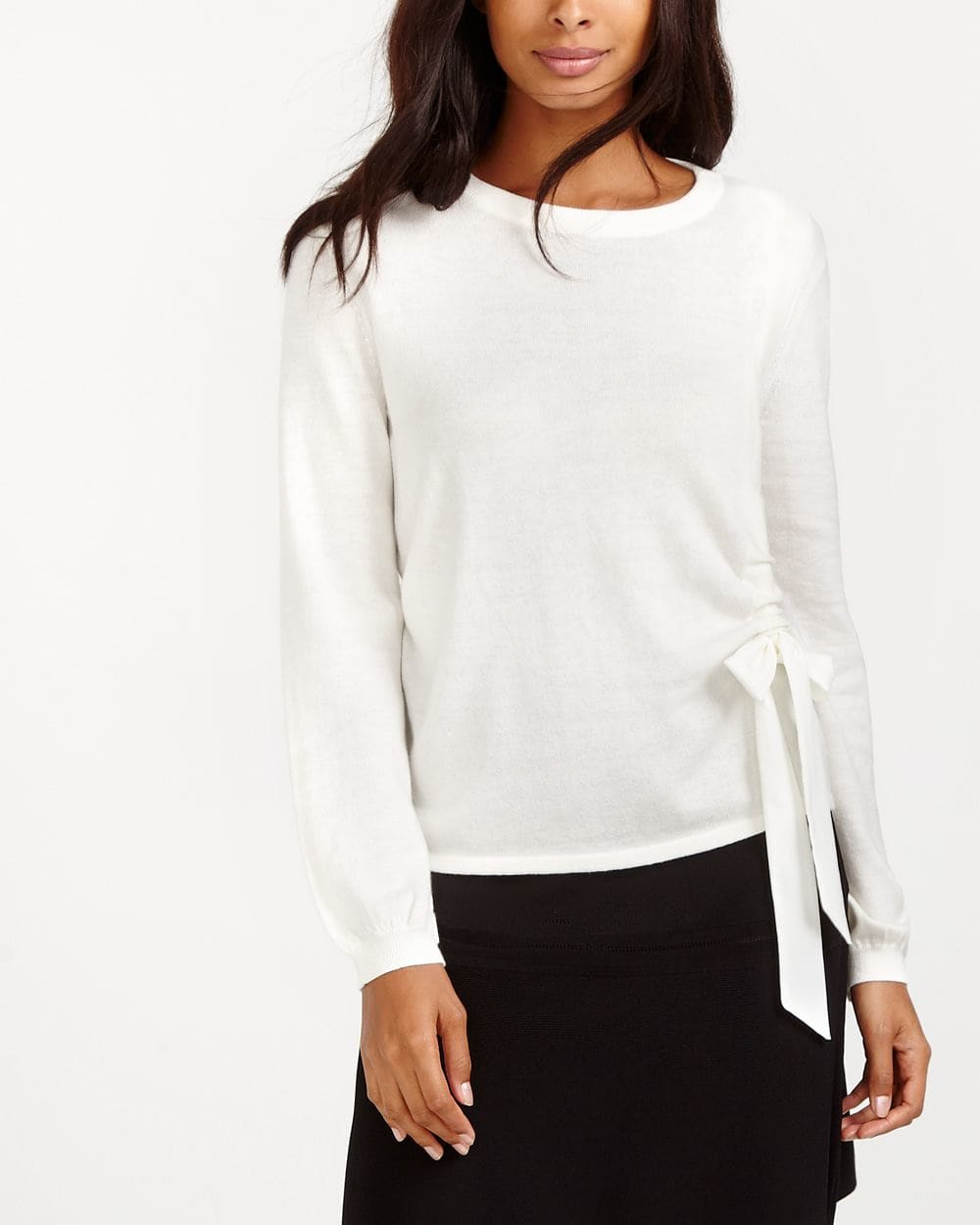 Ruched Bow Sweater