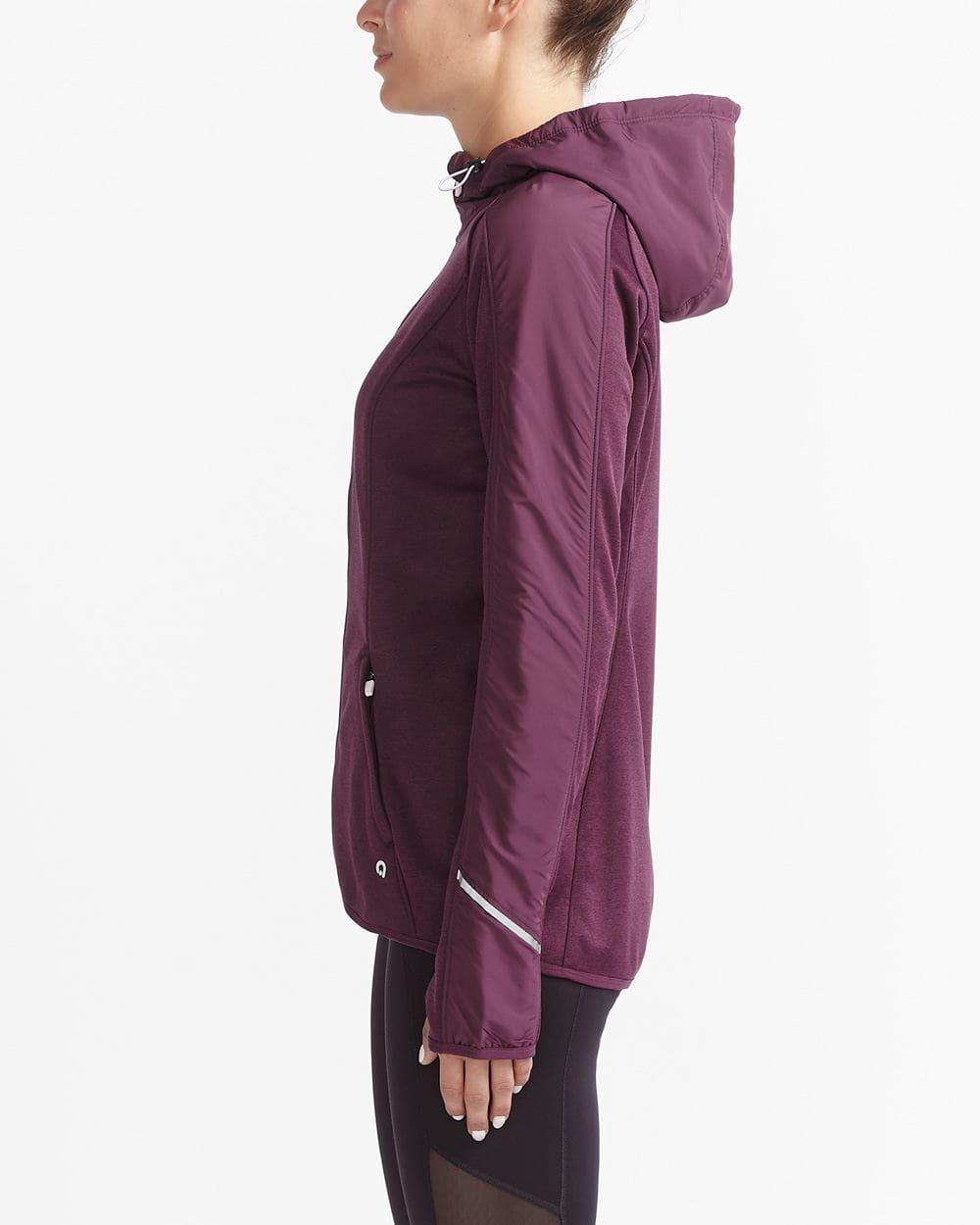 Hyba Hooded Mixed Media Jacket