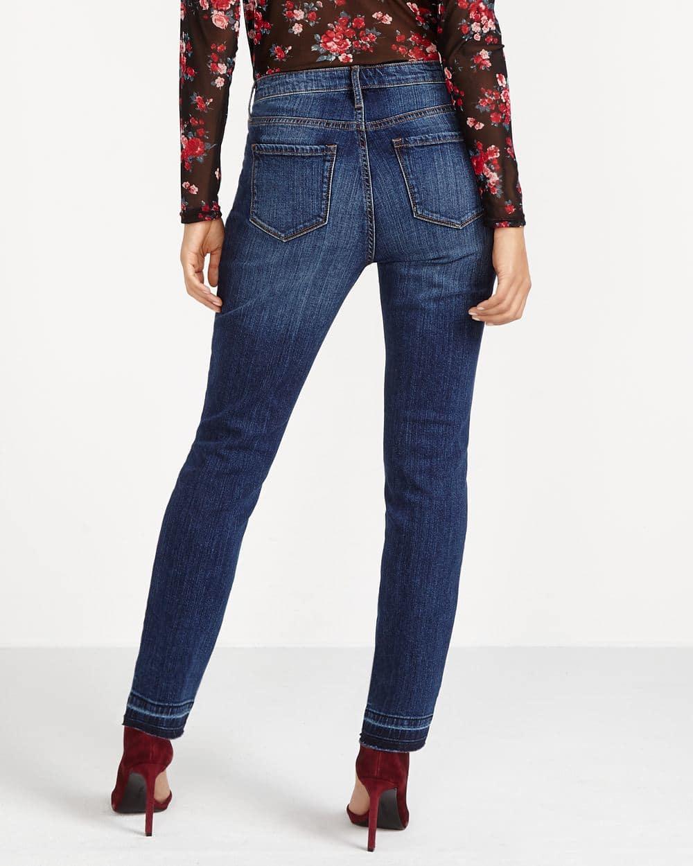 Jeans skinny à ourlet relâché