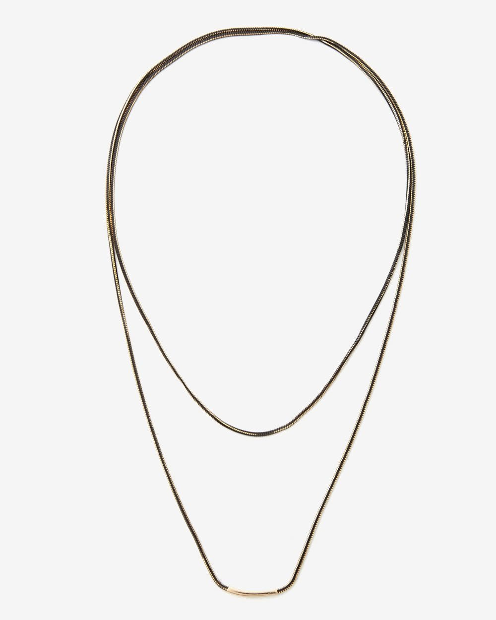 Collier double long