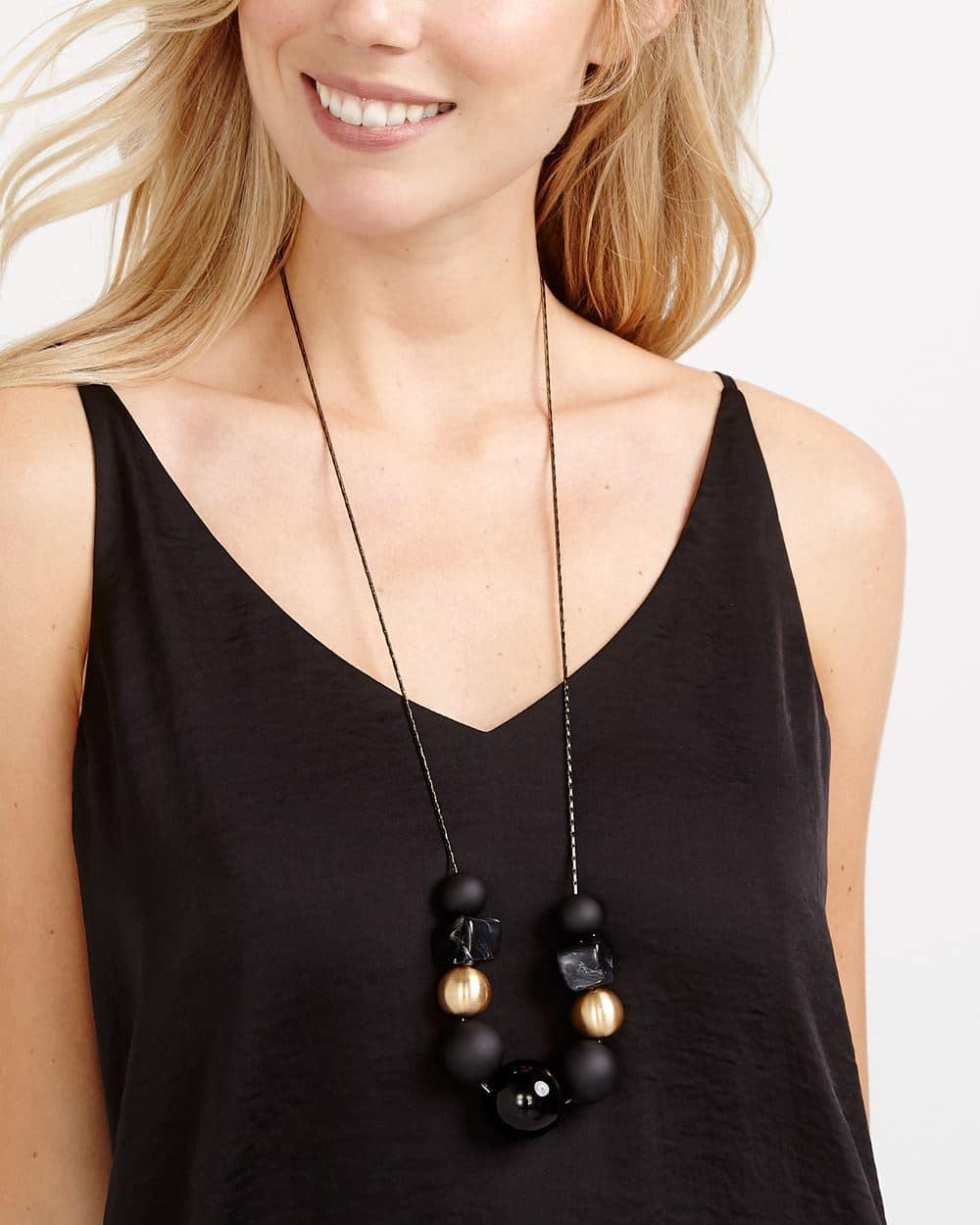Multi Bead Long Necklace