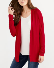 Mix Media Open Cardigan
