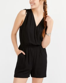 Sleeveless Romper with Ties