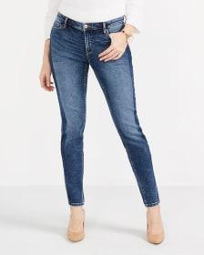 Contrasting Stripe Skinny Jeans