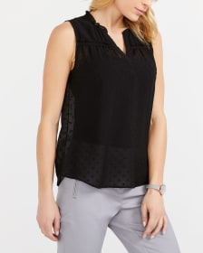 Sleeveless Ruffle Blouse