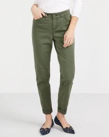 Petite Solid Slim Leg Chino Pants