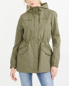 Water Repellant Hooded Anorak