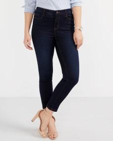 The Signature Soft Dark Wash High Rise Skinny Jeans