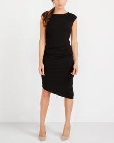 Asymmetric Hem Bodycon Dress