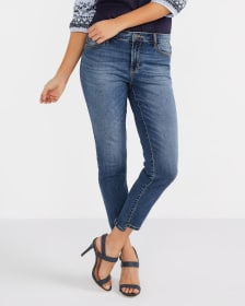 Step Hem Skinny Ankle Jeans