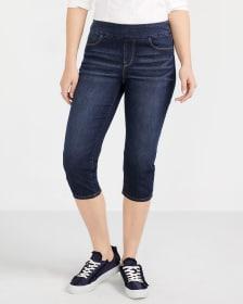 Petite Dark Wash Capri Jeans