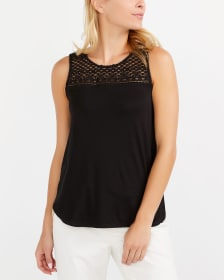 Crochet Yoke Solid Top