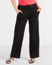 Pantalon ample en mélange de lin
