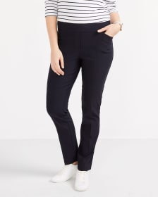 The Petite Iconic Straight Leg Solid Pants