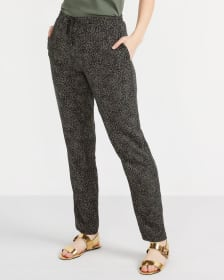 Printed Skinny Pants with Elastic Waist