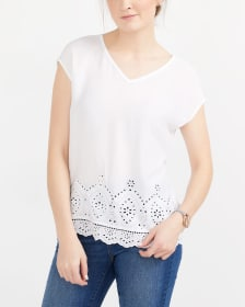 T-shirt with Eyelet Design